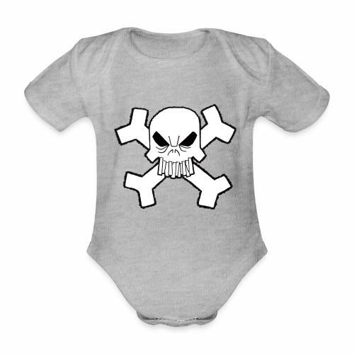 Craneo - Body orgánico de maga corta para bebé