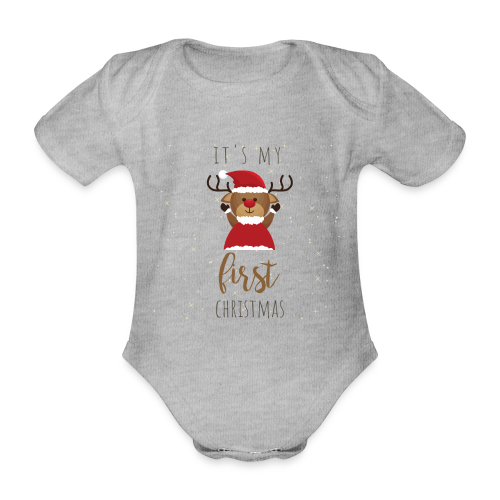 it's my first Christmas - Baby Bio-Kurzarm-Body
