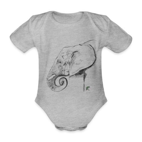 elephant - Body ecologico per neonato a manica corta
