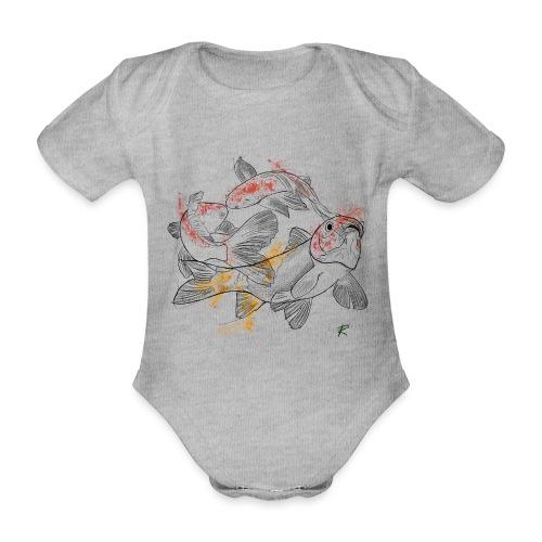 Carpa koi color - Body ecologico per neonato a manica corta