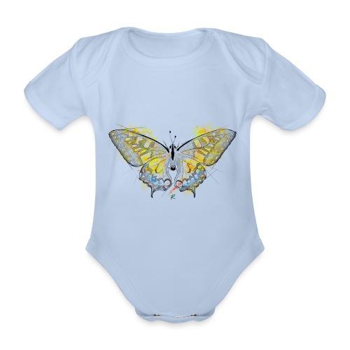 Butterfly color - Body ecologico per neonato a manica corta