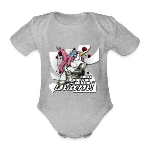 Don't mess up with the unicorn - Baby Bio-Kurzarm-Body