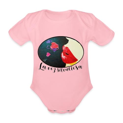 La Voz Silenciosa - Besos - Body orgánico de manga corta para bebé