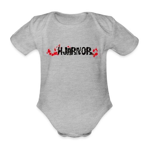 Hjärnor logo svart - Ekologisk kortärmad babybody