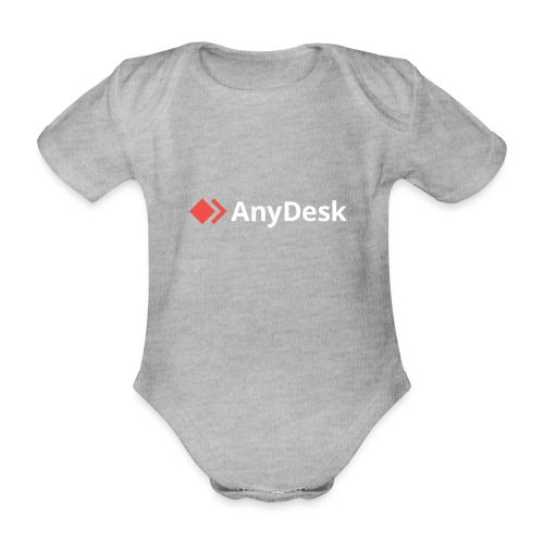 AnyDesk - logo white - Baby Bio-Kurzarm-Body