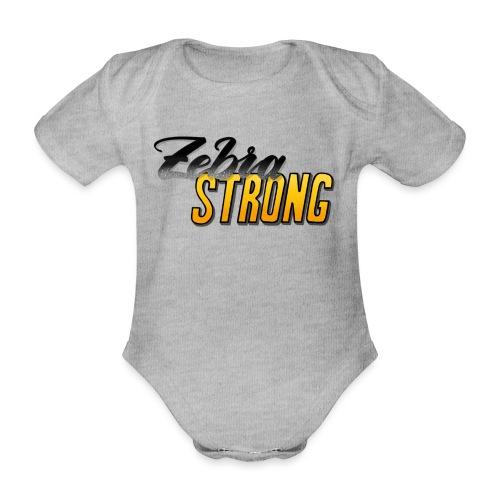 Zebra Strong - Baby Bio-Kurzarm-Body