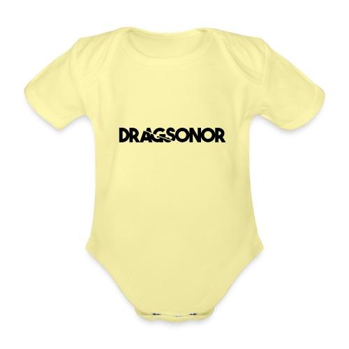 DRAGSONOR black - Organic Short-sleeved Baby Bodysuit