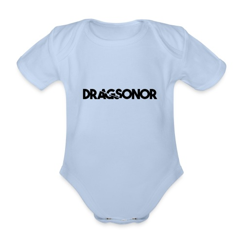 DRAGSONOR black - Organic Short-sleeved Baby Bodysuit