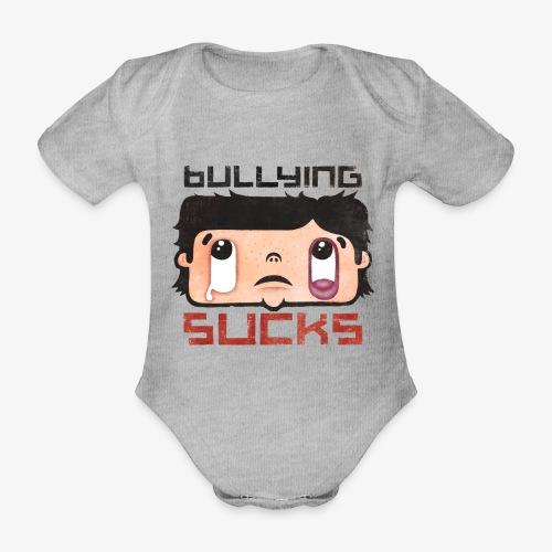 Bullying sucks - Vauvan lyhythihainen luomu-body