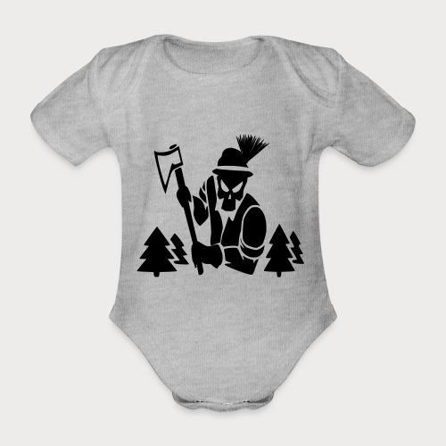 Holzfäller - Baby Bio-Kurzarm-Body