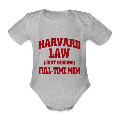 harvard law just kidding - Ekologiczne body niemowlęce z krótkim rękawem