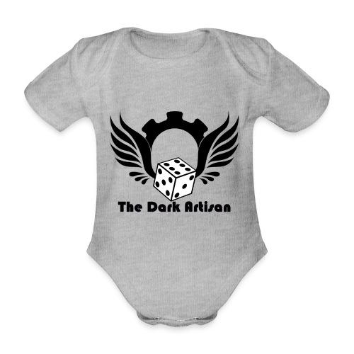 Black logo - Organic Short-sleeved Baby Bodysuit