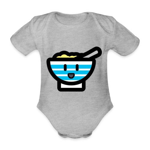 Cute Breakfast Bowl - Organic Short-sleeved Baby Bodysuit