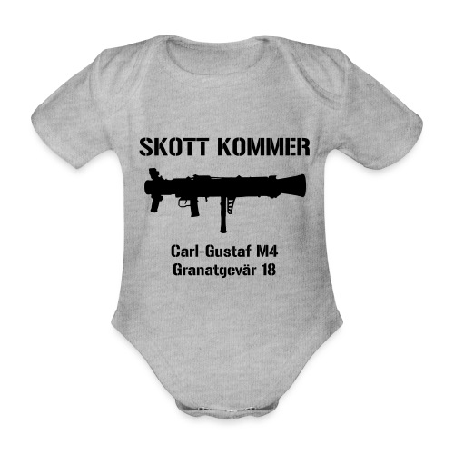 Skott Kommer CGM4 - Ekologisk kortärmad babybody