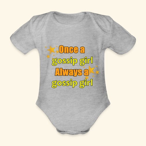 Gossip Girl Gossip Girl Shirts - Organic Short-sleeved Baby Bodysuit