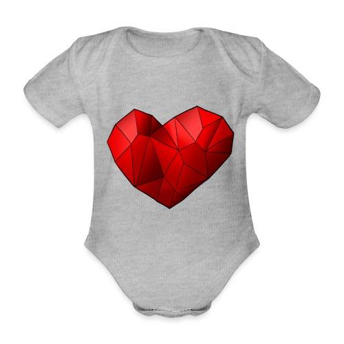 Heartart - Organic Short-sleeved Baby Bodysuit