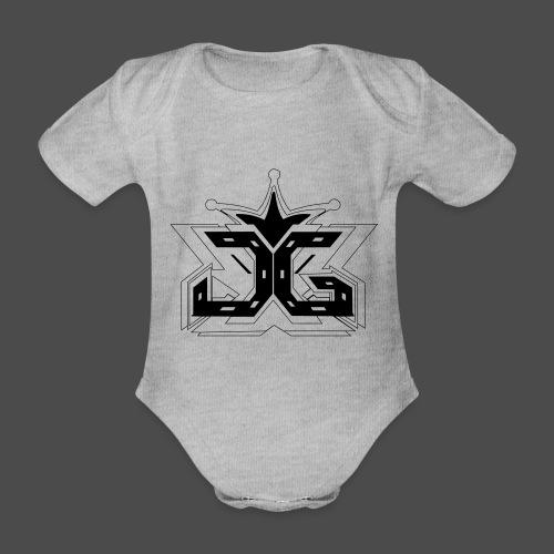 LOGO OUTLINE SMALL - Organic Short-sleeved Baby Bodysuit