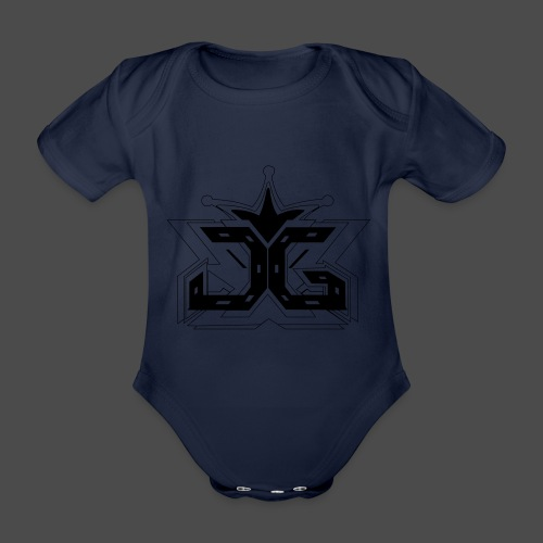 LOGO OUTLINE SMALL - Organic Short-sleeved Baby Bodysuit