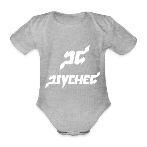 psyched-logo-finalwhite - Baby bio-rompertje met korte mouwen