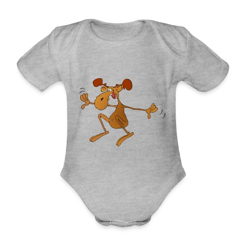 elch huepft - Baby Bio-Kurzarm-Body