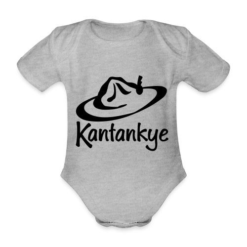 logo hoed naam - Baby bio-rompertje met korte mouwen