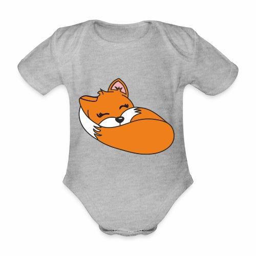 Fuchs schlafend - Baby Bio-Kurzarm-Body