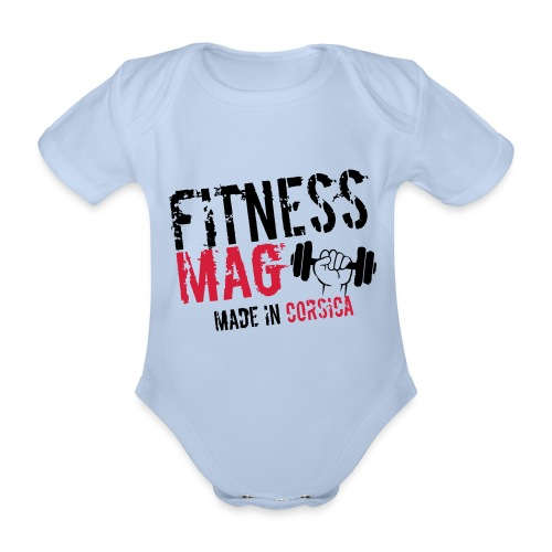 Fitness Mag made in corsica 100% Polyester - Body Bébé bio manches courtes