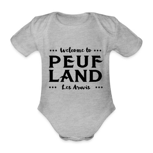 Peuf Land Aravis - Black - Body Bébé bio manches courtes