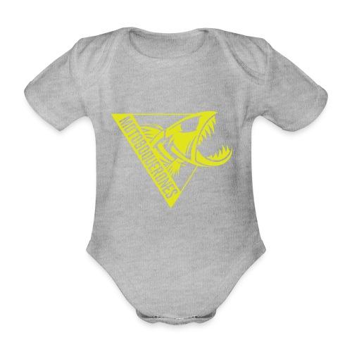 Logo Motoboquerones amarillo - Body orgánico de manga corta para bebé