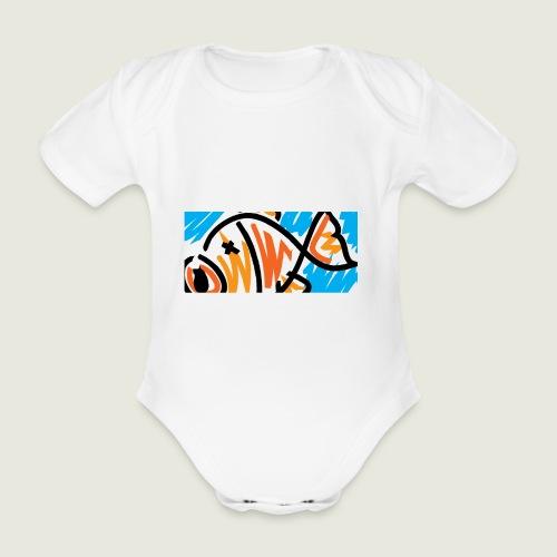 pescefritto - Body ecologico per neonato a manica corta