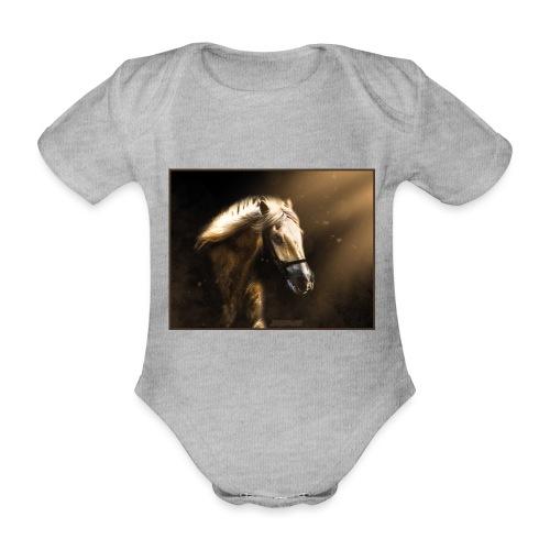 The Restless Stallion - Baby bio-rompertje met korte mouwen