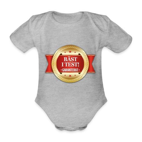 Bäst i test - Garanterat - Ekologisk kortärmad babybody