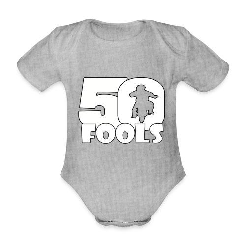 50FOOLSLOGOSPREADSHIRT png - Baby bio-rompertje met korte mouwen