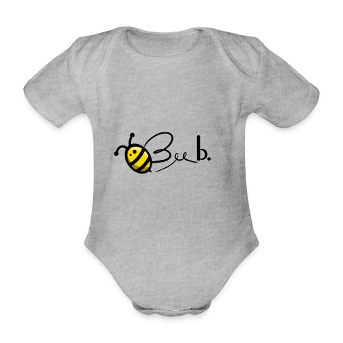 Bee b. Logo - Organic Short-sleeved Baby Bodysuit