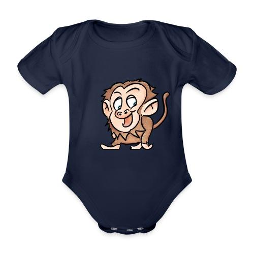 Aap - Baby bio-rompertje met korte mouwen