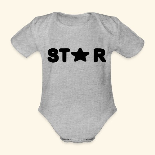 Star of Stars - Organic Short-sleeved Baby Bodysuit
