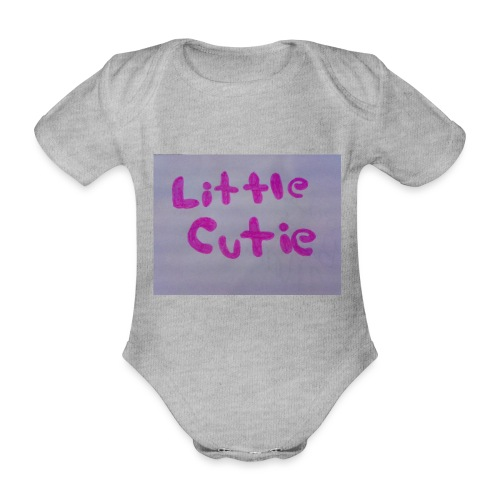 Pink Little Cutie clothing - Organic Short-sleeved Baby Bodysuit