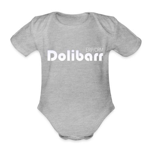 Dolibarr logo white - Organic Short-sleeved Baby Bodysuit