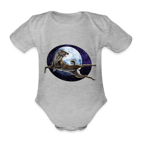 Galaxy Wolf - Baby Bio-Kurzarm-Body