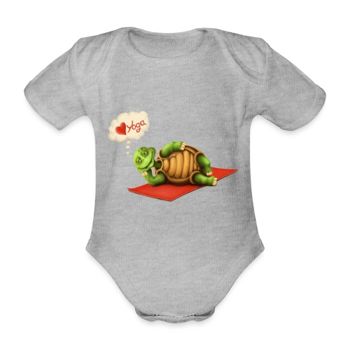 Love-Yoga Turtle - Baby Bio-Kurzarm-Body