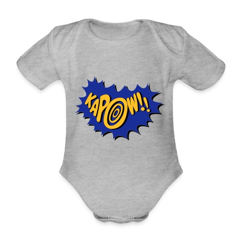 kapow - Organic Short-sleeved Baby Bodysuit