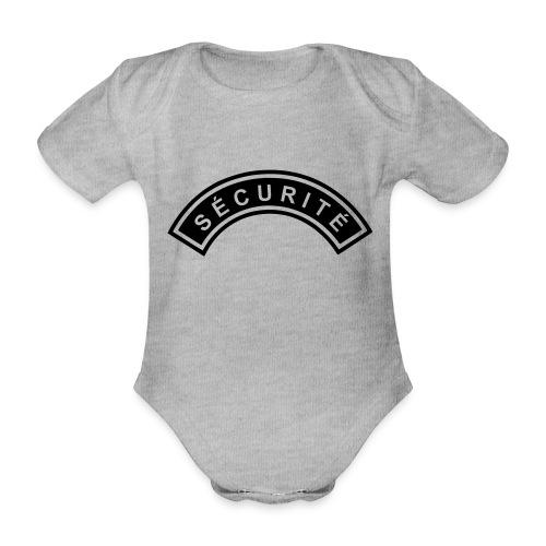 Ecusson Sécurité demilune - Body Bébé bio manches courtes
