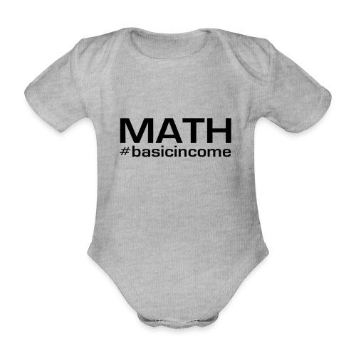 math-black - Baby bio-rompertje met korte mouwen