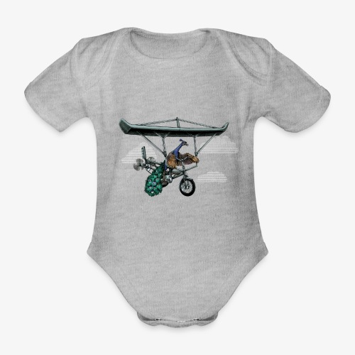 Flight of the Peacock - Organic Short-sleeved Baby Bodysuit