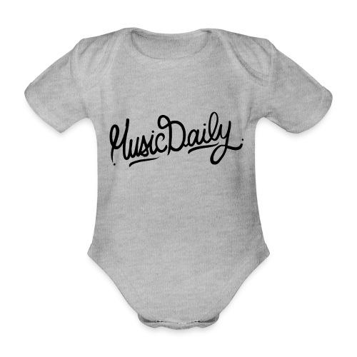MusicDaily Logo - Baby bio-rompertje met korte mouwen