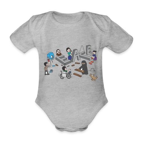 Peace - Baby Bio-Kurzarm-Body
