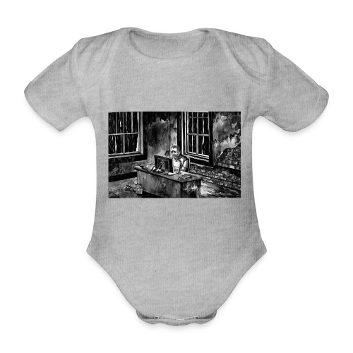 Marc podcasting in the zombie apocalypse - Organic Short-sleeved Baby Bodysuit