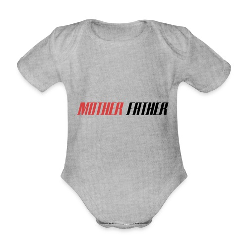 Mother Father - Organic Short-sleeved Baby Bodysuit