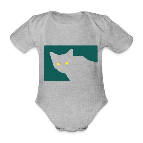 Spy Cat - Organic Short-sleeved Baby Bodysuit