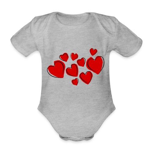 hearts herzen - Baby Bio-Kurzarm-Body